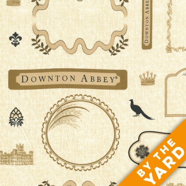 Andover - Downton Abbey - 7670 Labels - Fabric by the Yard