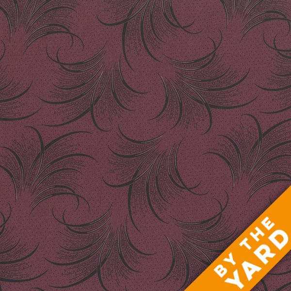 Andover - Downton Abbey - 7322 Claret - Fabric by the Yard
