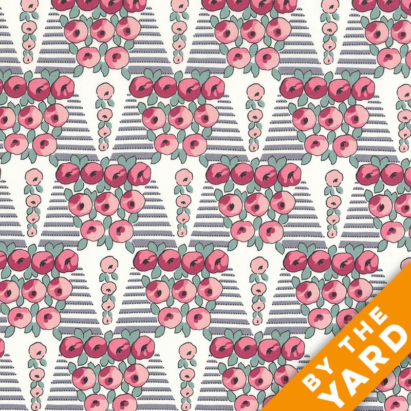 Andover - Downton Abbey - Lady Rose - 7612 Pink - Fabric by the Yard