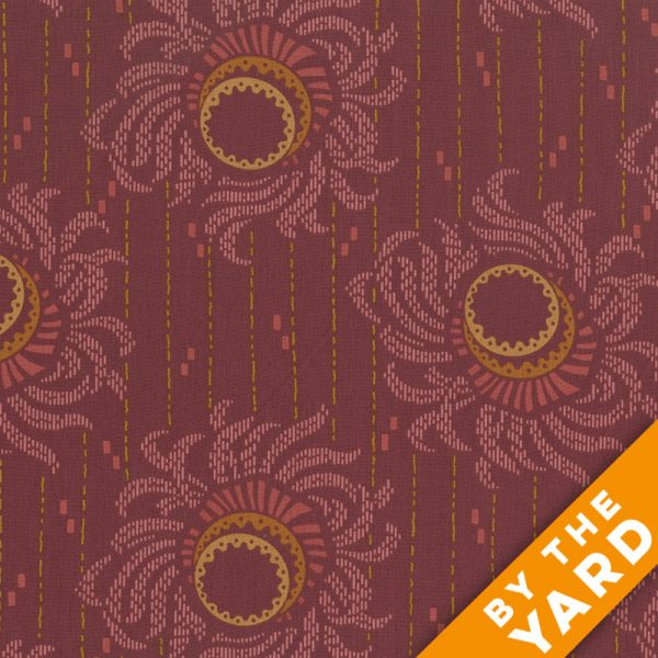 Andover - Downton Abbey - Lady & Lady - 7665 Red - Fabric by the Yard