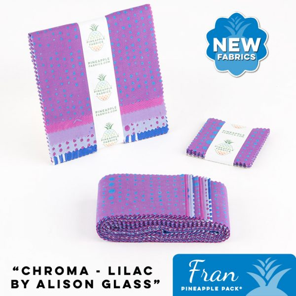 Chroma - Lilac by Alison Glass - Fran Pineapple Pack