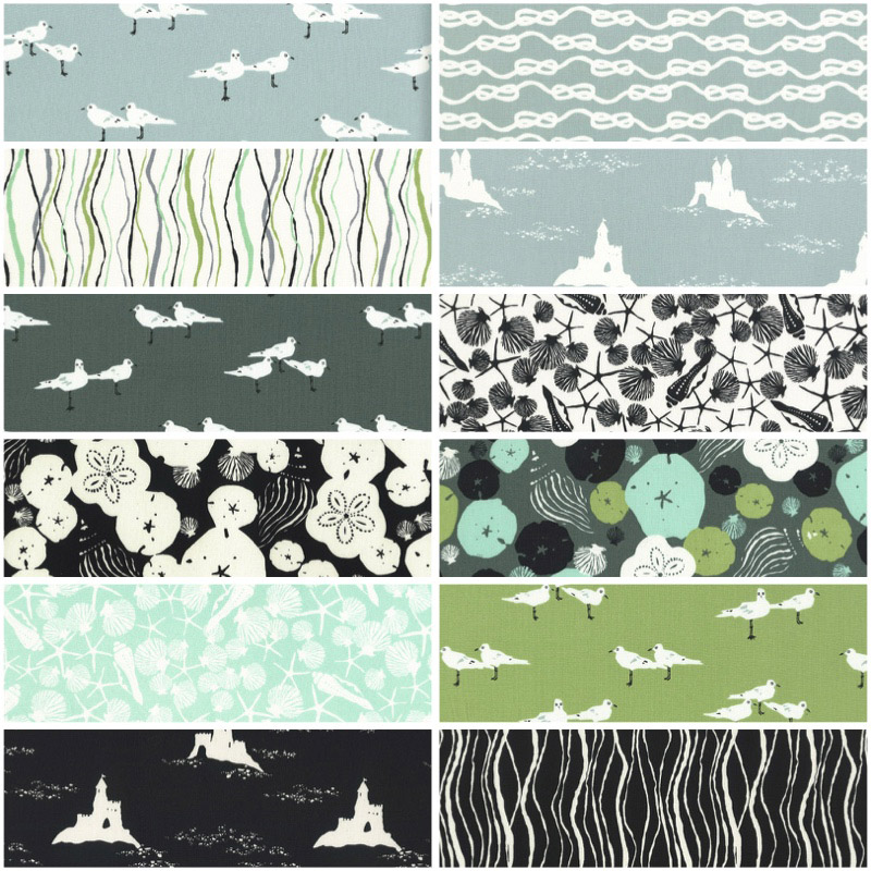 "Low Tide by Jane Dixon for Andover Fabrics - 2.5"" Strips"