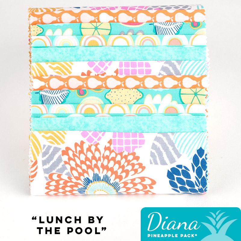 Lunch By The Pool Diana Pineapple Pack Pineapple Fabrics