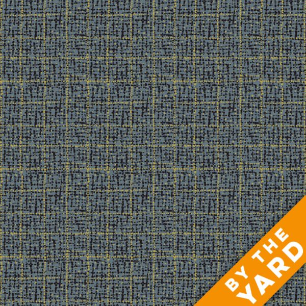 Andover Outlander Textured Plaid Grey 8324 C Fabric By The Yard