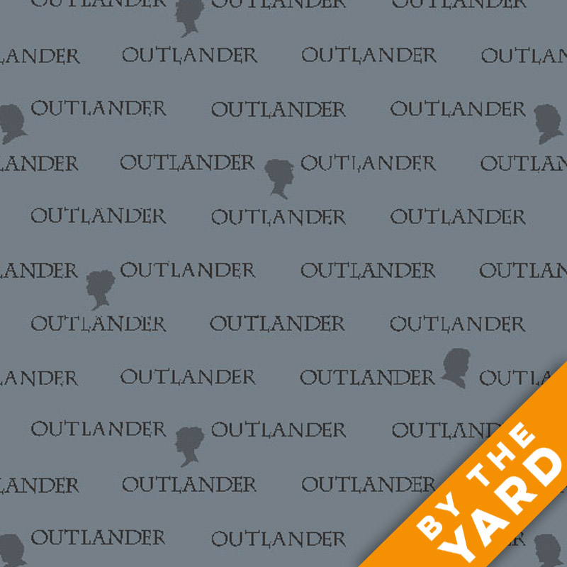 Andover Outlander Words Grey 8325 C Fabric By The Yard