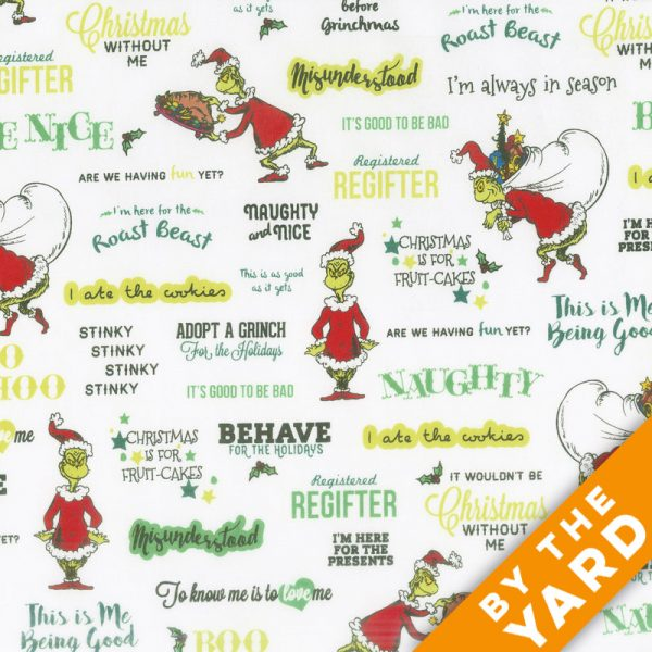 Robert Kaufman – How the Grinch Stole Christmas – ADE-17491-223 – Fabric by the Yard