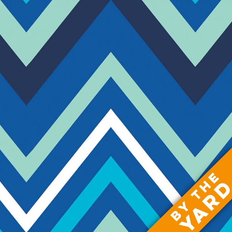 Camelot Fabrics - Singing the Blues - Chevron - Fabric by the Yard